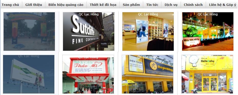 Công ty thi công bảng hiệu quảng cáo Lạc Hồng
