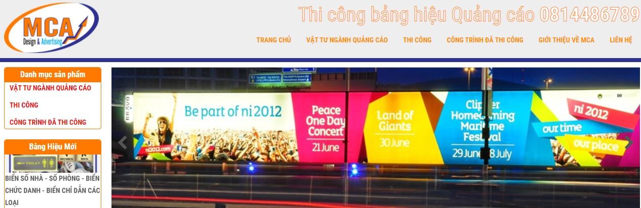 Công ty thi công bảng hiệu quảng cáo MCA