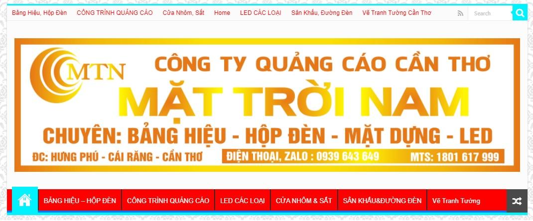 Công ty thi công bảng hiệu quảng cáo Mặt Trời Nam