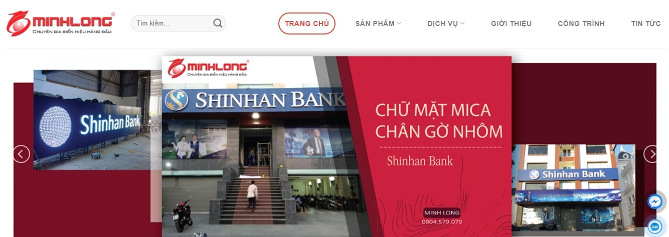 Công ty thi công bảng hiệu quảng cáo Minh Long