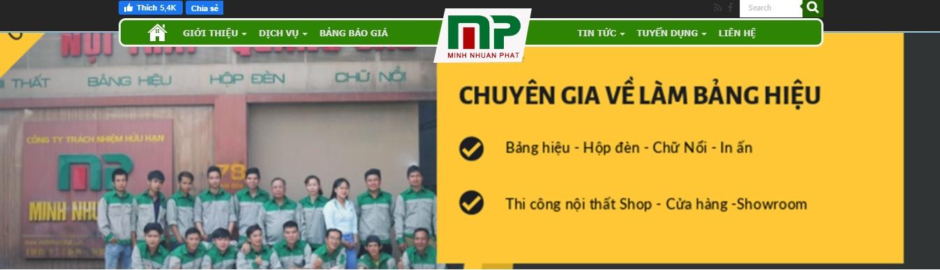 Công ty thi công bảng hiệu quảng cáo Minh Thuận Phát