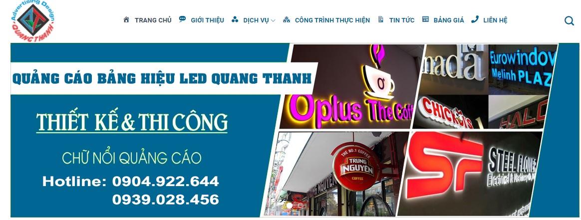 Công ty thi công bảng hiệu quảng cáo Quang Thanh