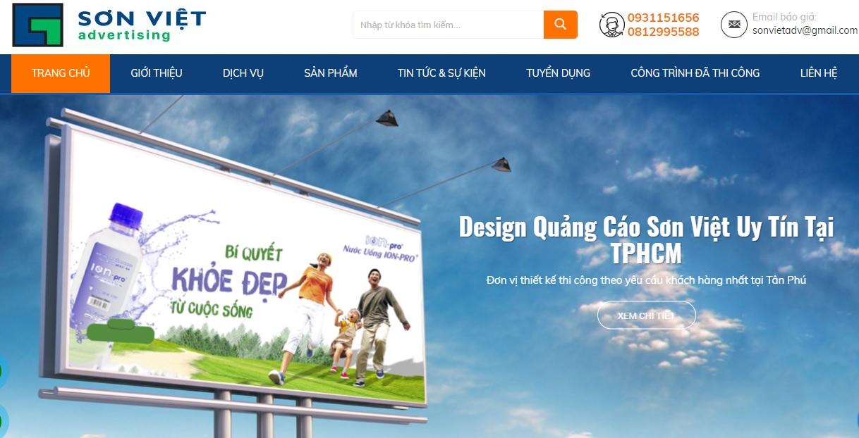 Công ty thi công bảng hiệu quảng cáo Sơn Việt