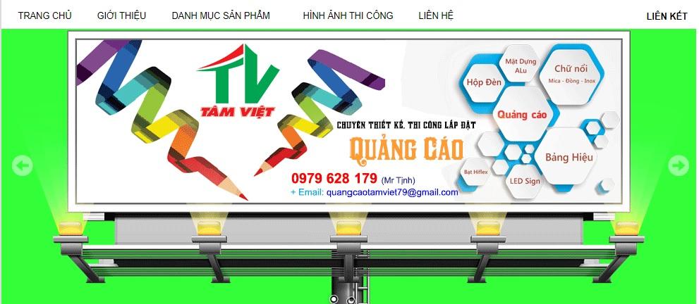 Công ty thi công bảng hiệu quảng cáo Tâm Việt