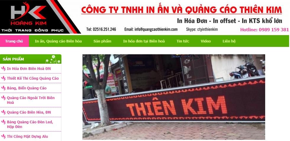 Công ty thi công bảng hiệu quảng cáo Thiên Kim