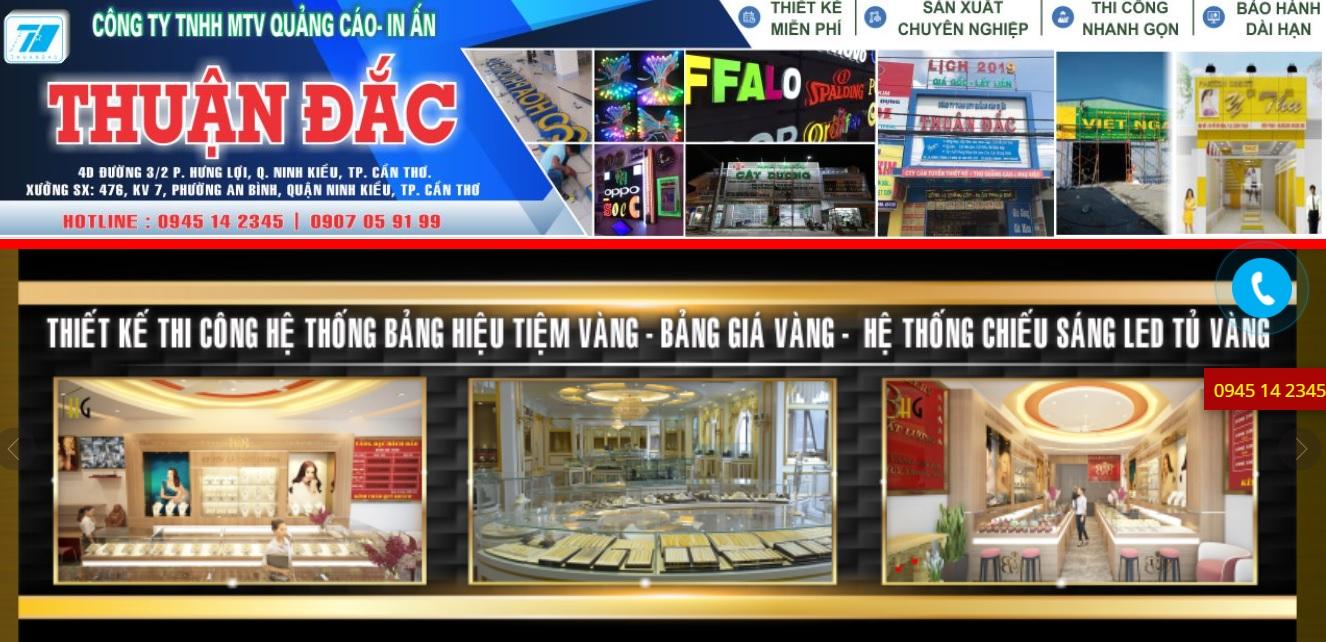 Công ty thi công bảng hiệu quảng cáo Thuận Đắc