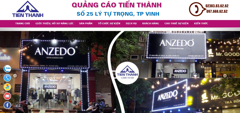 Công ty thi công bảng hiệu quảng cáo Tiến Thành