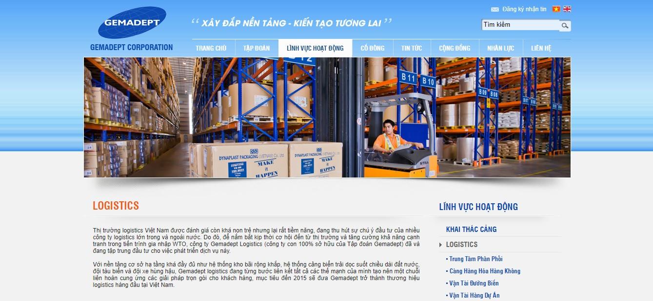 Công ty vận tải và Logistics - Gemadept