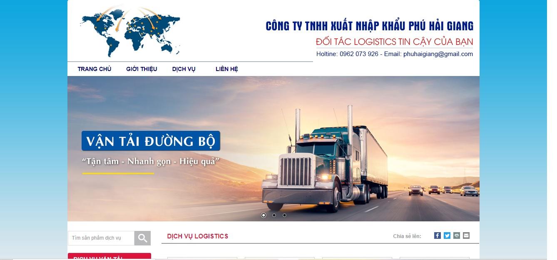 Công ty vận tải và logistics - Xuất Nhập Khẩu Phú Hải Giang