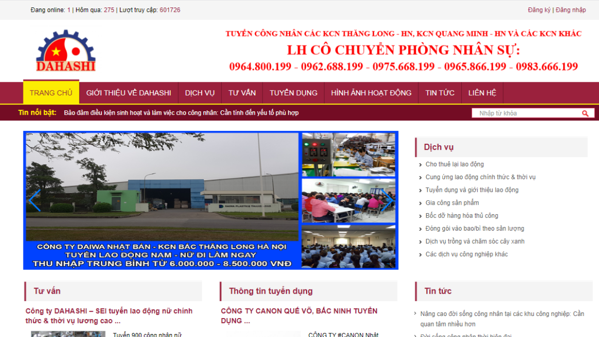 Công ty cung cấp nguồn lực nhân sự Dahashi