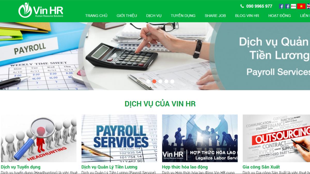 Công ty cung ứng nhân lực Vin HR
