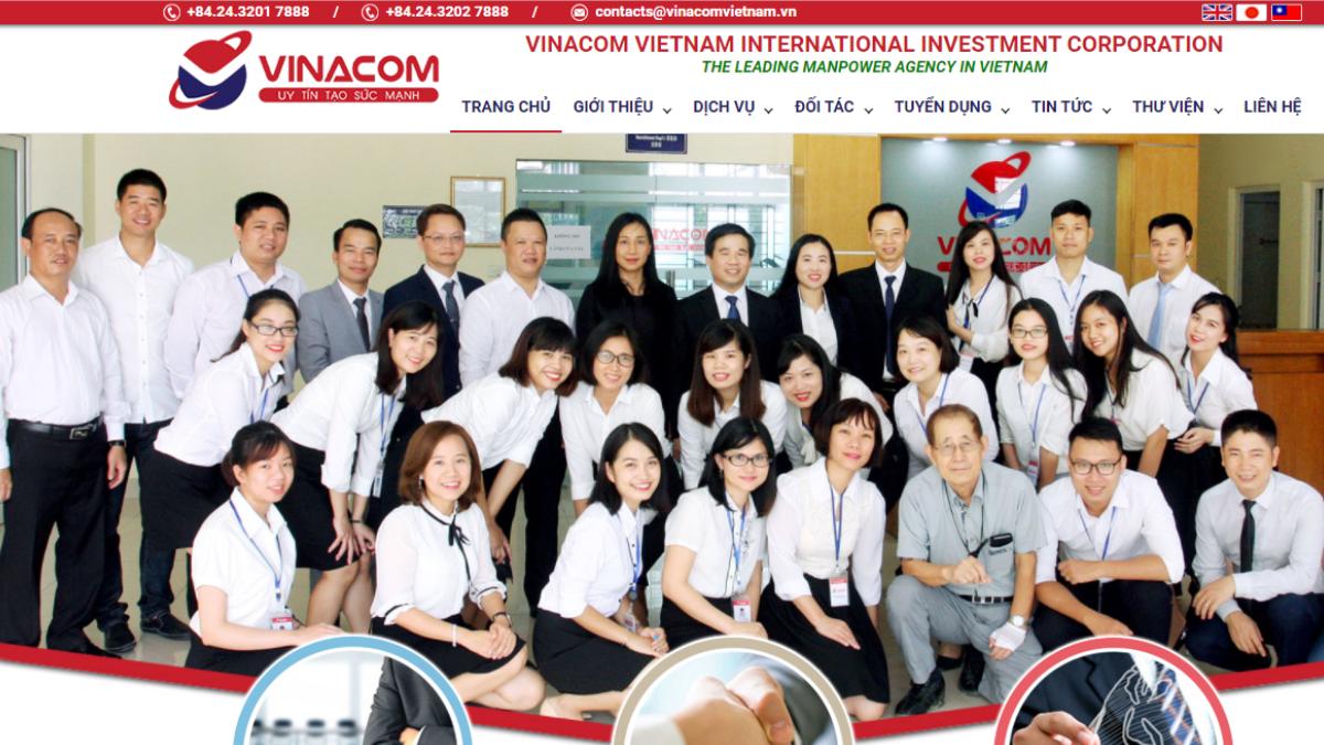 Công ty cung cấp lao động Vinacom Việt Nam