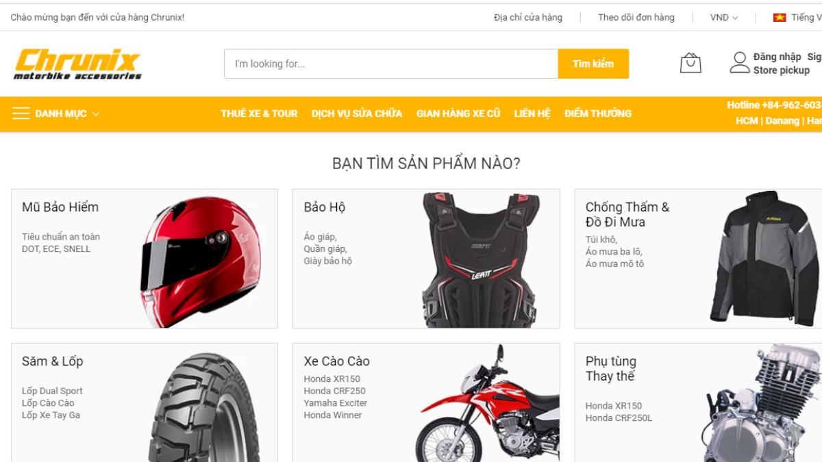 Công ty đồ chơi mô tô xe máy Chrunix