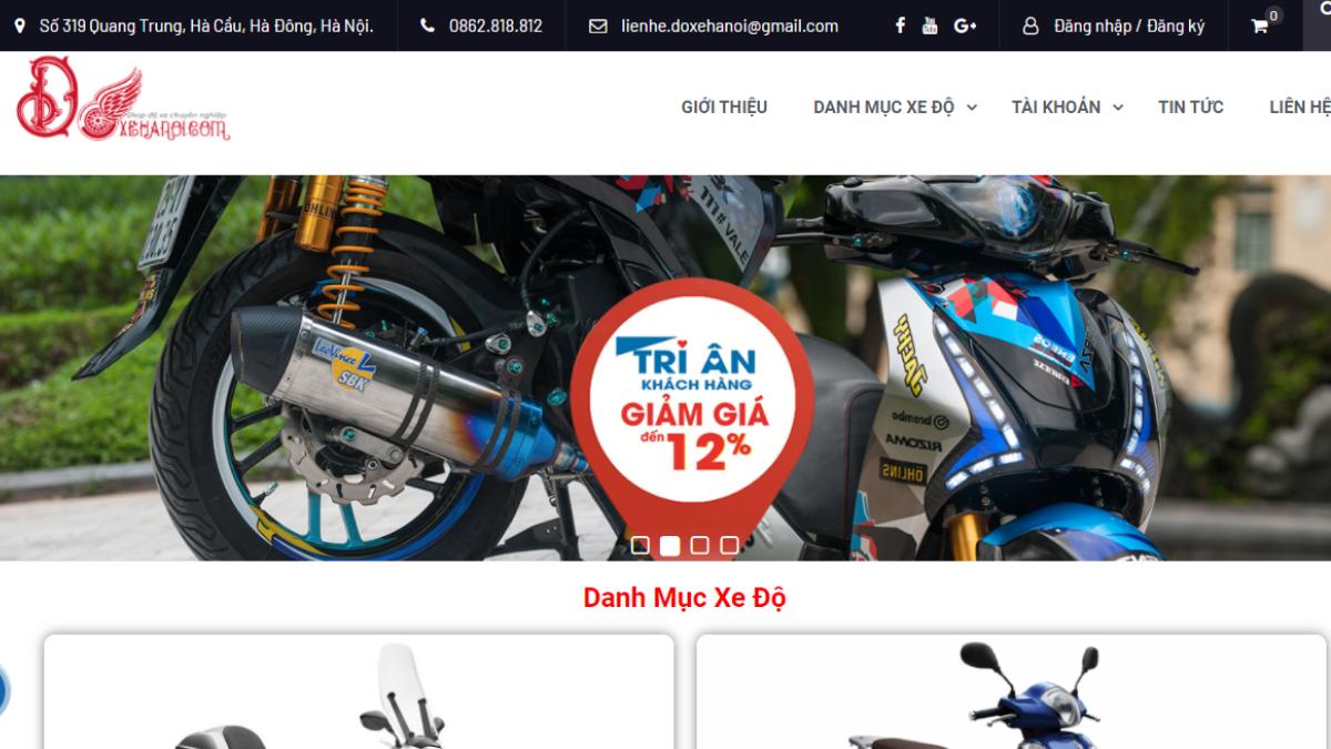 Địa chỉ bán phụ kiện xe máy Độ Xe Hà Nội