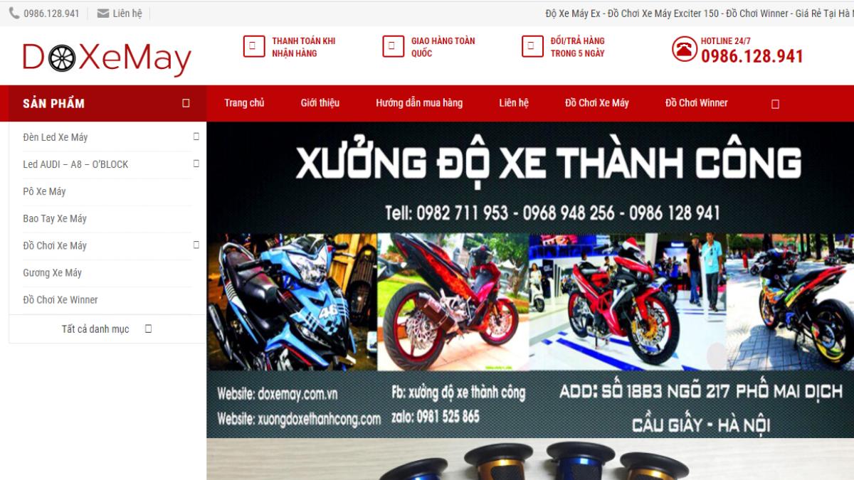 Địa chỉ bán phụ tùng đồ chơi xe máy Độ Xe Máy