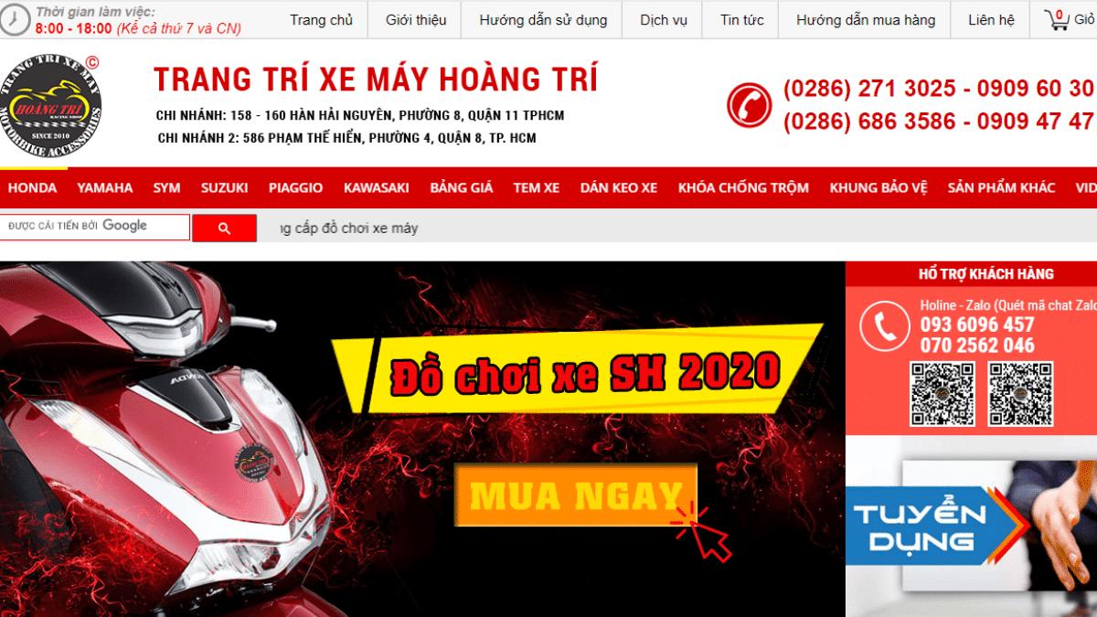 Công ty phụ tùng đồ chơi mô tô Hoàng Trí