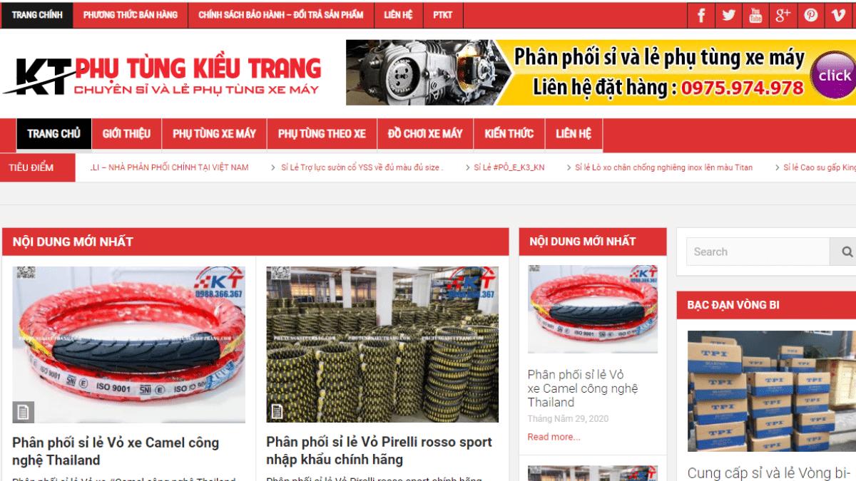 Công ty phụ tùng đồ chơi xe máy Kiều Trang