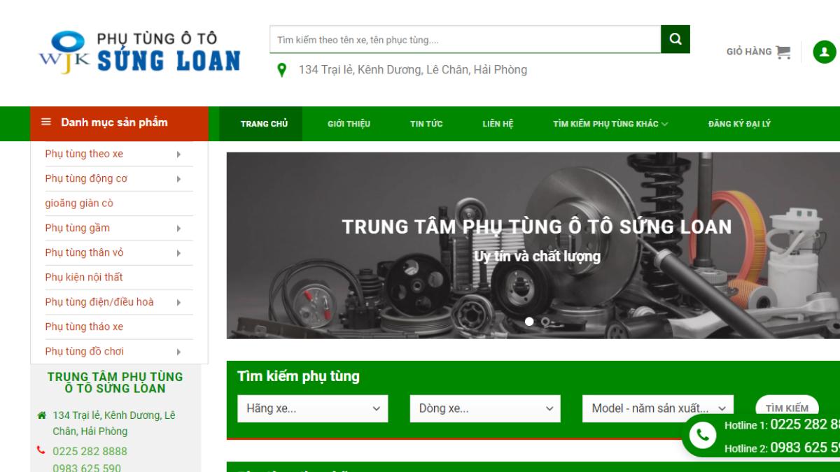 Công ty phụ tùng đồ chơi xe hơi Sứng Loan WJK