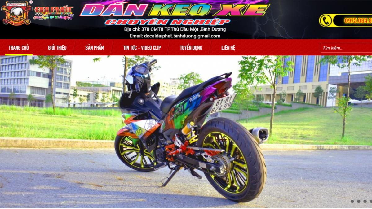Cửa hàng phụ kiện mô tô xe máy Decal Đại Phát