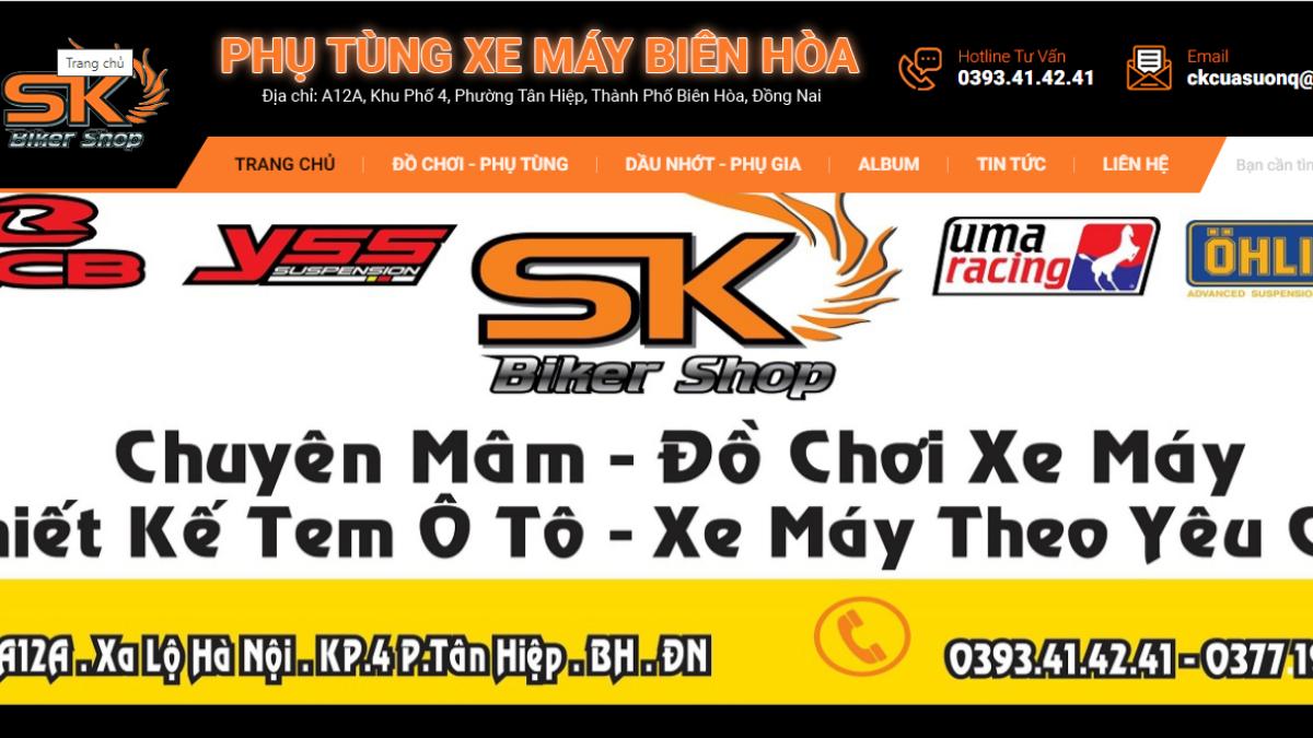 Cửa hàng phụ kiện mô tô xe máy SK Biker Shop