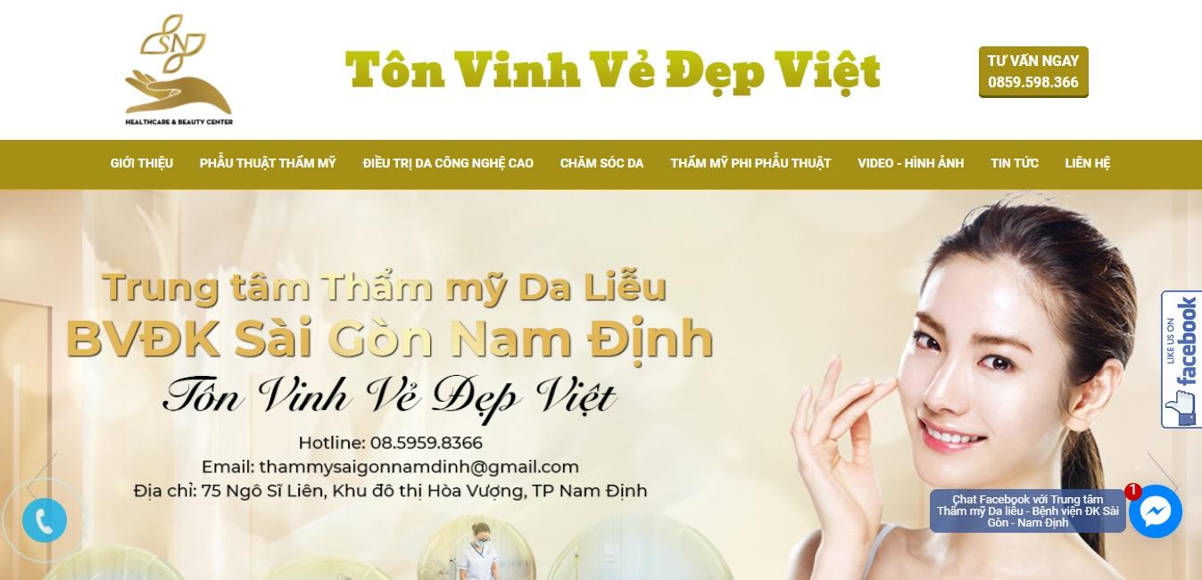 Thẩm mỹ viện Da liễu - BVĐK Sài Gòn Nam Định