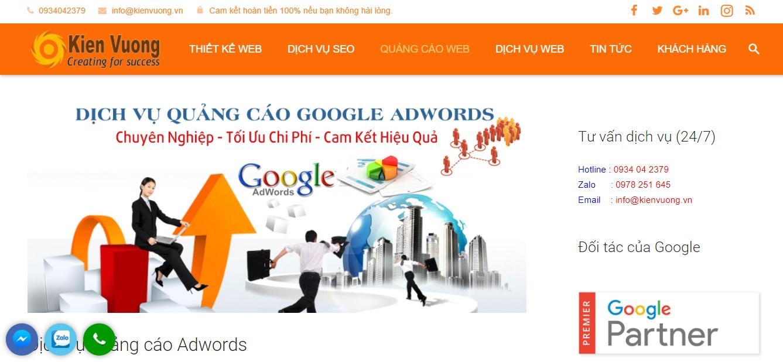 Công ty quảng cáo trực tuyến Kiến Vương