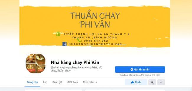 Quán chay ngon Phi Vân, Bình Dương