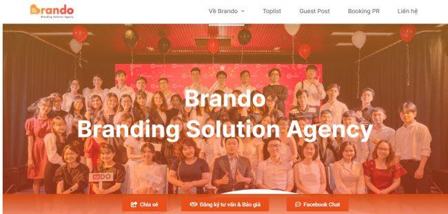 Công ty tư vấn và xây dựng thương hiệu Brando Agency