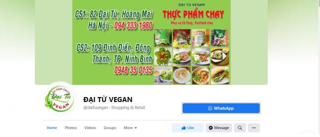 Thực phẩm chay Đại Từ Vegan Ninh Bình
