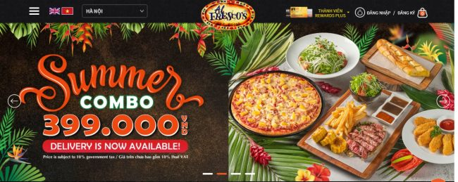 Thương hiệu bánh pizza ngon Al Fresco's