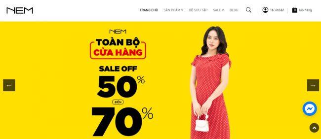 Shop quần áo nữ NEM