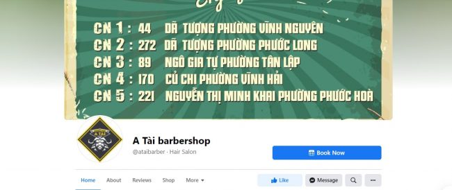 A Tài barbershop Nha Trang Khánh Hòa