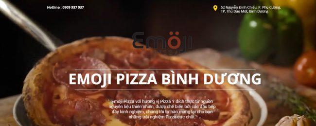 Thương hiệu bánh pizza ngon Emoji Pizza Bình Dương