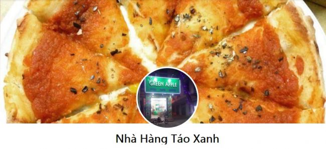 Thương hiệu bánh pizza ngon Nhà hàng Táo Xanh