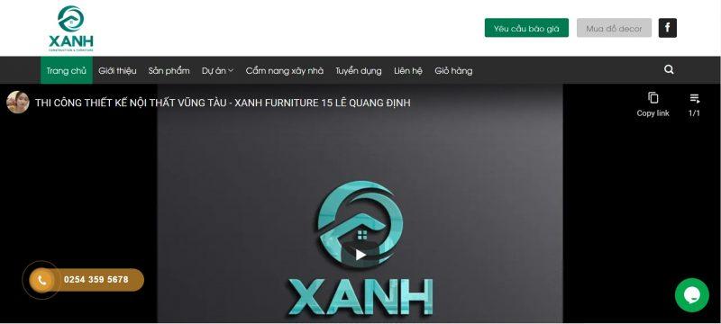 công ty thiết kế nội thất uy tín tại Vũng Tàu Xanh Furniture